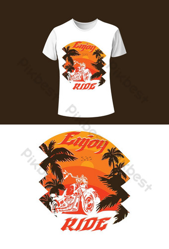 Nikmati Template Desain T Shirt T Shirt Templat EPS