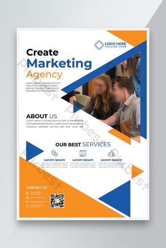 Nouveau Créer une agence de marketing Flyer Design 2021 Modèle AI