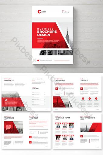 Творческий бизнес брошюра шаблон с минимальными формами корпоративных мульти страниц брошюры шаблон EPS