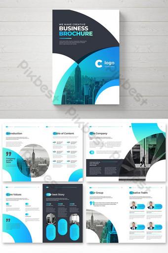 Kreatif Gradien Gradient Business Brochure Template Desain Brosur Bumi Perusahaan Templat EPS