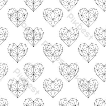 نمط شكل قلب هندسي صور PNG قالب PSD