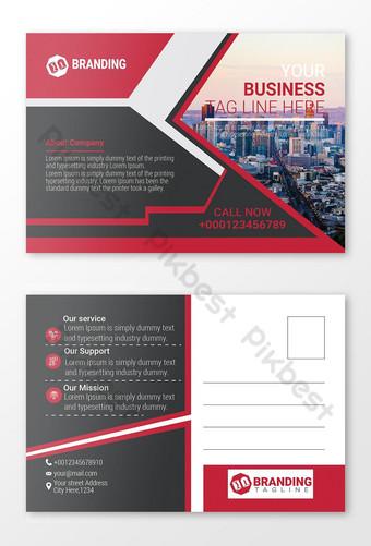 Conception de cartes postales d'entreprise Modèle AI