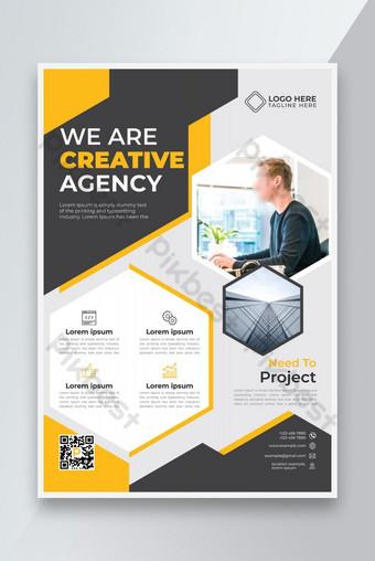 Conception de modèles de flyer d'agence créative élégante Modèle AI
