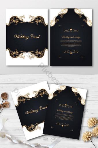 Carte d'invitation de mariage de luxe sur fond élégant Modèle EPS