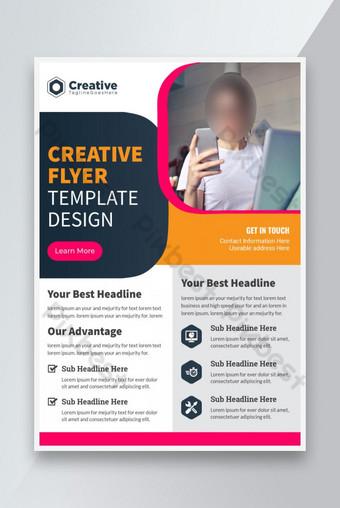 تغطية الحديثة والإبداعية تخطيط التقرير السنوي نشرة الشركات تصميم قالب A4 قالب EPS