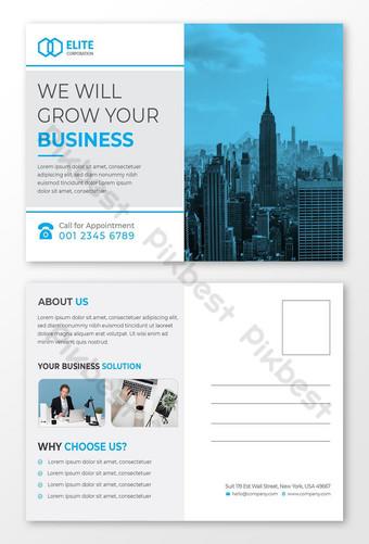 Modèle de conception de carte postale de marketing d'entreprise et de marketing d'entreprise Modèle EPS