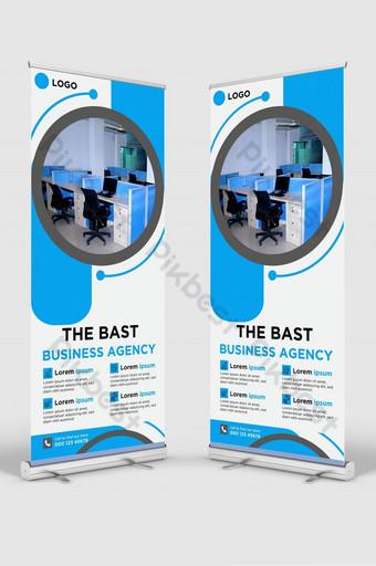 Bast Business Agency enrollar la plantilla de diseño de banner de señalización Modelo AI