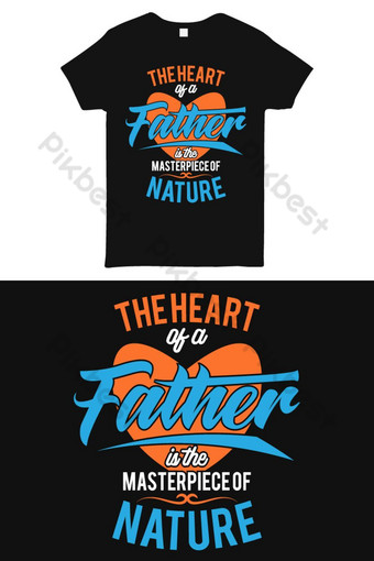 Bapa S Hari Keren T Shirt Desain Tipografi T Shirt Desain Template Templat AI
