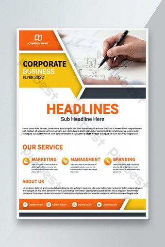 Modèle de flyer d'entreprise abstraite Brochure de conception de la brochure design Modèle AI