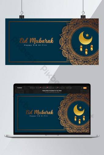 تصميم الخلفية من قبل عيد سعيد الفطر ماندالا تصميم خلفيات قالب AI