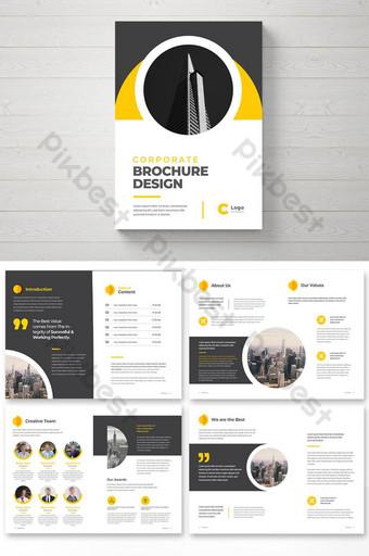 Perusahaan Profil Perusahaan Business Brochure Template Desain Multi Halaman Brosur Kreatif Templat EPS