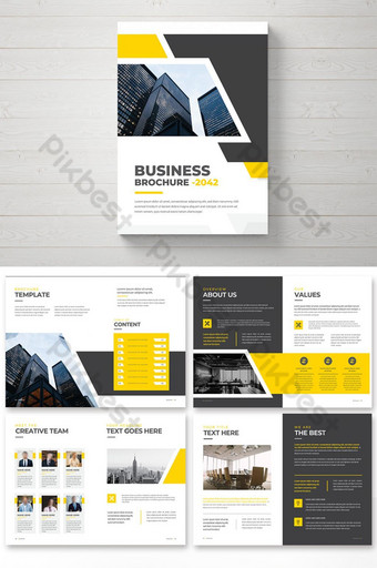 Desain Template Brosur Bisnis Profesional Desain Brosur Profil Perusahaan Templat EPS