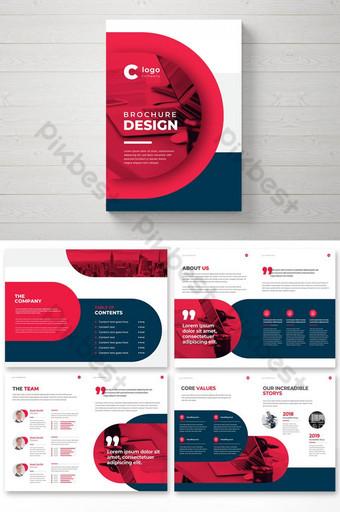 Perusahaan Brosur Bisnis Brosur Profil Template Desain Multipage Brosur Kreatif Templat EPS