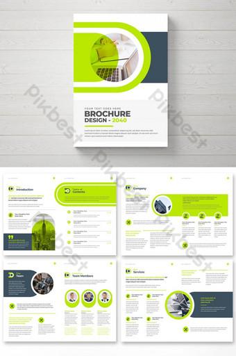 Modèle professionnel de la brochure de la brochure d'entreprise Modèle de brochure multipages d'entreprise Modèle EPS