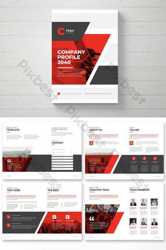 Templat Business Template Desain Brosur Profil Kreatif Templat EPS
