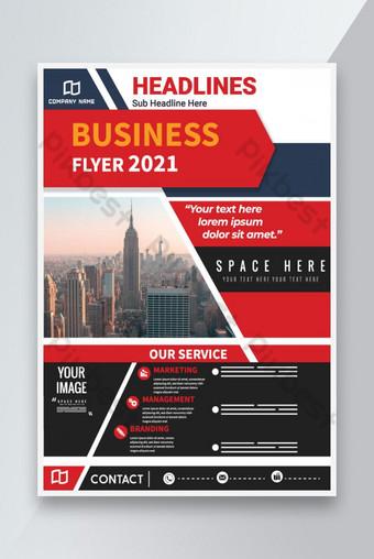 Modèle Creative Business Flyer Modèle de Flyer d'entreprise Design Modèle de dépliant moderne Modèle AI