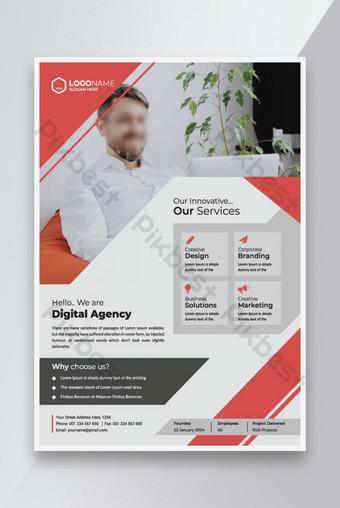 Modèle de flyer moderne d'entreprise Modèle de marketing d'entreprise Design de brochure Modèle EPS