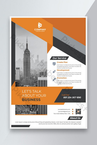Modèle de mise en page de flyer moderne d'entreprise avec design propres Modèle EPS