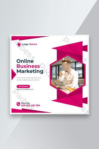 Agence de marketing en ligne Facebook et média sociaux Post Design Modèle PSD