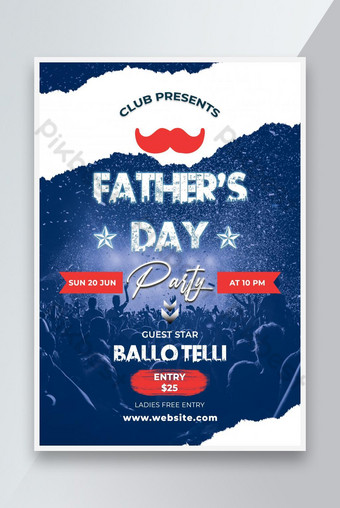 Fathers Day DJ Party Flyer Template Istygraphic Templat PSD