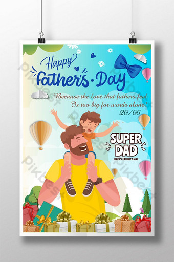Happy Father Day, Dad, Ngày của Cha Template EPS