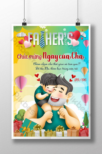 Happy Father's Day, Dad, Ngày của Cha Template EPS