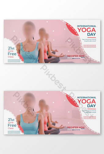International Yoga Day Facebook Cover Template PSD