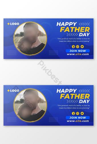 Happy Ayah Hari Desain Sampul Facebook Templat PSD
