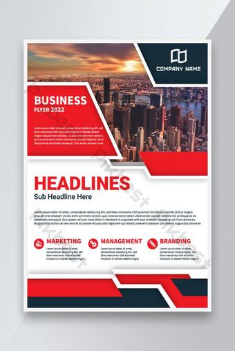 Modèle de flyer d'affaires d'entreprise Creative business Flyer Design Flyer d'affaires moderne Modèle AI