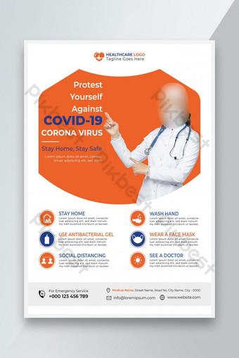 Covid 19 Flyer Design Modèle Covid 19 Flyer Business Flyer Conception de Flyer Corporate Modèle EPS