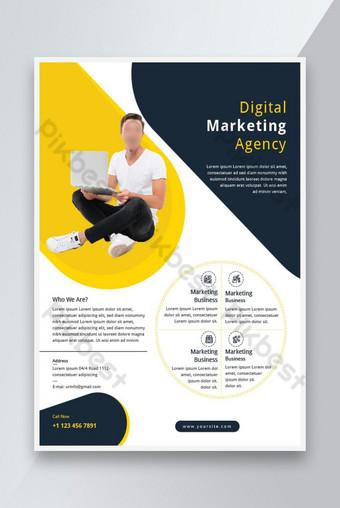 Conception de modèles de dépliant d'agence de marketing numérique Modèle AI