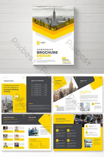 Desain Template Brosur Perusahaan Templat Brosur Profil Kreatif Templat EPS