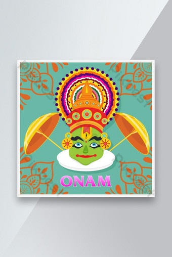وسائل الاعلام الاجتماعية ONAM مهرجان راية تصميم تصميم قالب AI