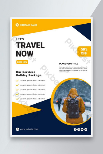 Voyage Vertical Business Flyer Modèle Design Modèle AI