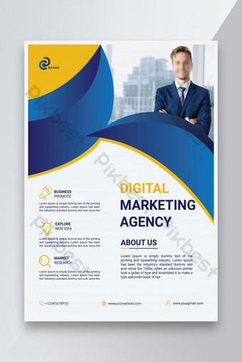 Modèle de dépliant de l'agence de marketing numérique Modèle AI