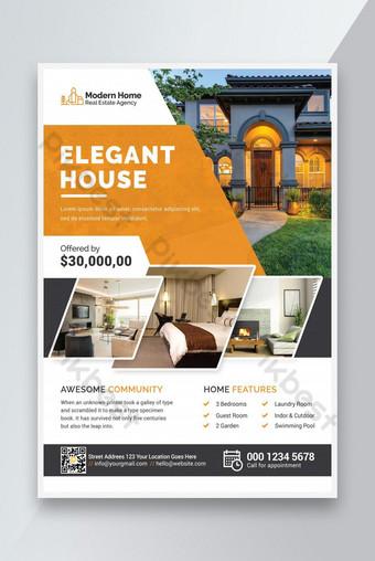 أنيقة المنزل العقارية نشرة تصميم قالب قيم قسط قالب PSD