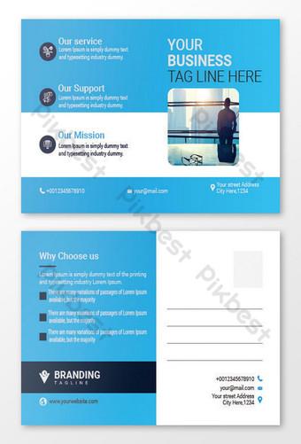 Modèle de conception de carte de poste d'entreprise Modèle EPS