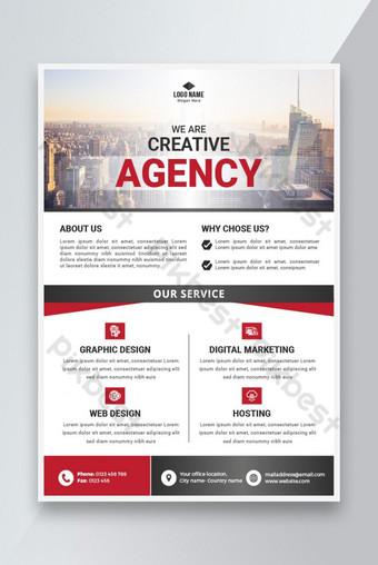 Conception de flyer d'affaires créative Modèle AI