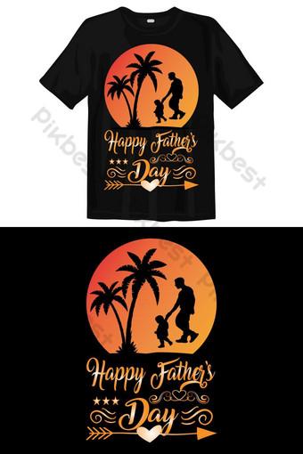 selamat ayah s hari t shirt desain vektor tipografi Elemen Grafis Templat EPS