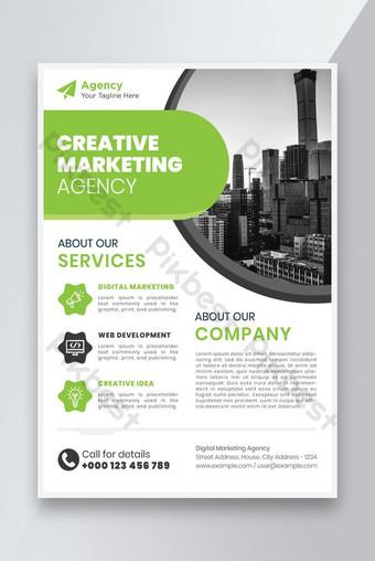 Nouveau modèle de flyer d'agence de marketing créatif Modèle AI