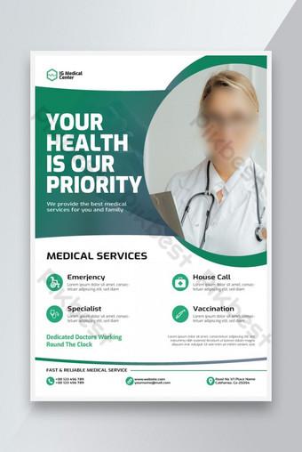 Graft de santé médical Covid Flyer ou Affiche Istygraphic Modèle AI