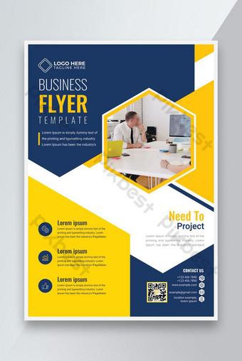Nouveau meilleur modèle de conception de flyer d'affaires élégant 2021 Modèle AI