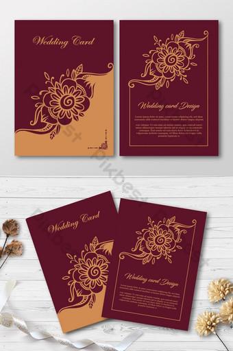 Kartu pernikahan mewah modern kartu undangan premium elegan Templat EPS