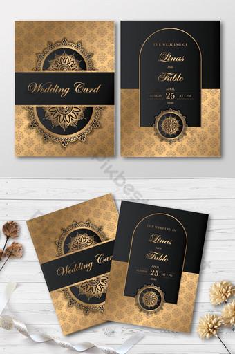 Carte de mariage de luxe moderne élégante carte d'invitation premium élégante Modèle AI