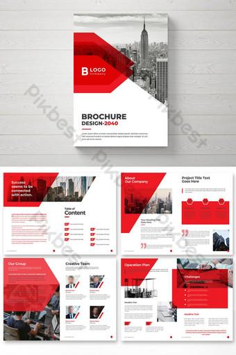 Perusahaan Brosur Templat Desain Desain Brosur Templat EPS