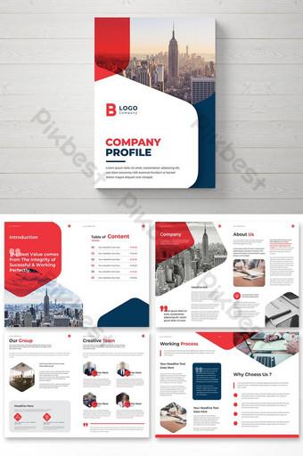 Profil Brosur Kreatif Profil Template Desain Brosur Korporat Templat EPS