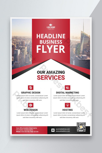 Desain Flyer Bisnis Templat AI
