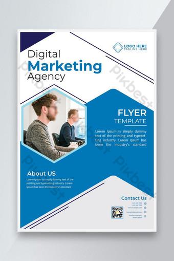 Modèle de conception de flyer d'agence de marketing numérique simple élégant Modèle AI