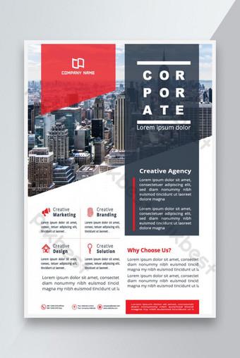 Business Flyer Desain Template Bisnis Promosi Iklan Templat AI