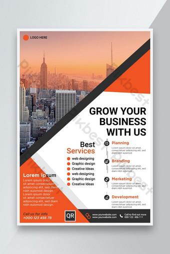 Conception de modèle Creative Entreprise Business Flyer Modèle AI